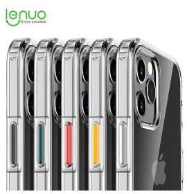 Lenuo Fashion Mixed Colors Transparent Casing For iPhone 12 Pro Max